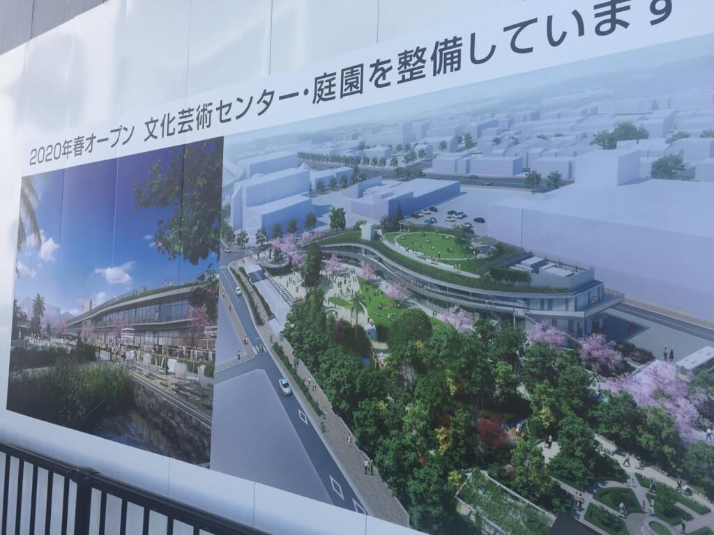 宝塚市文化芸術施設の完成予定図