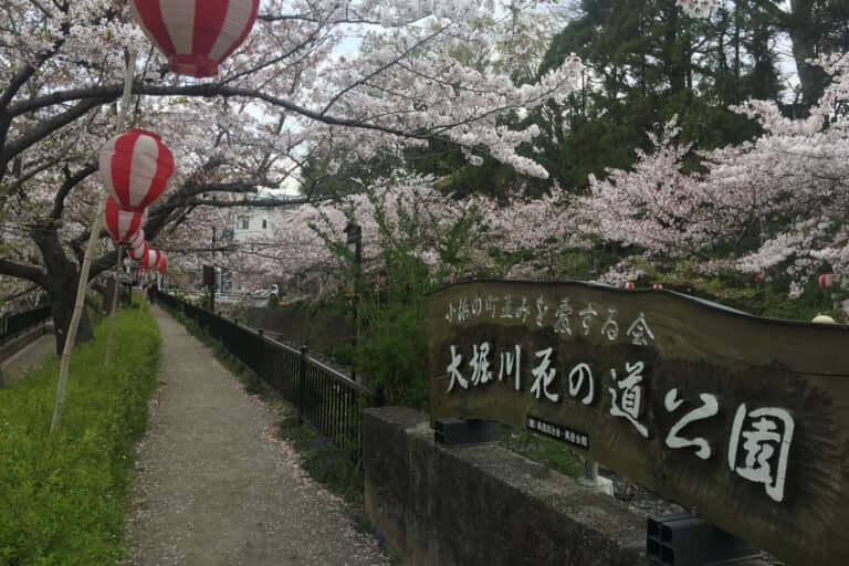 大堀川の花の道公園看板
