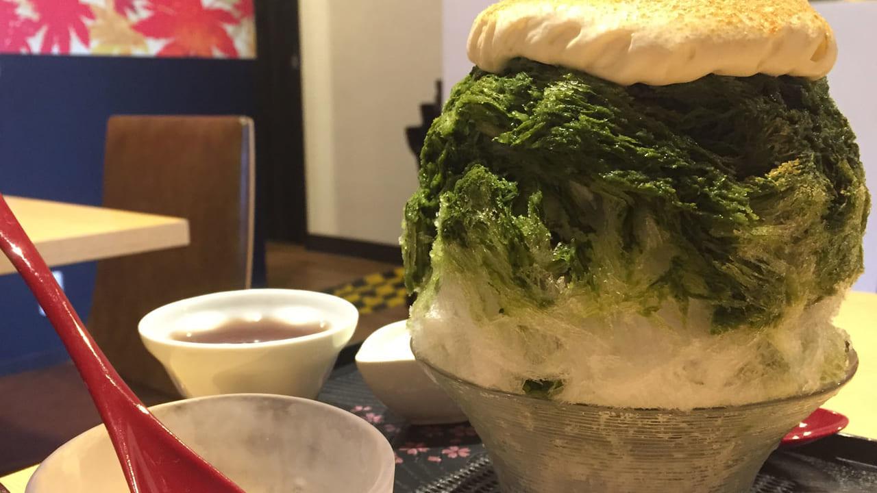 【宝塚市】暑い時は、かき氷!和の雰囲気で、お茶漬けとエスプーマかき氷!