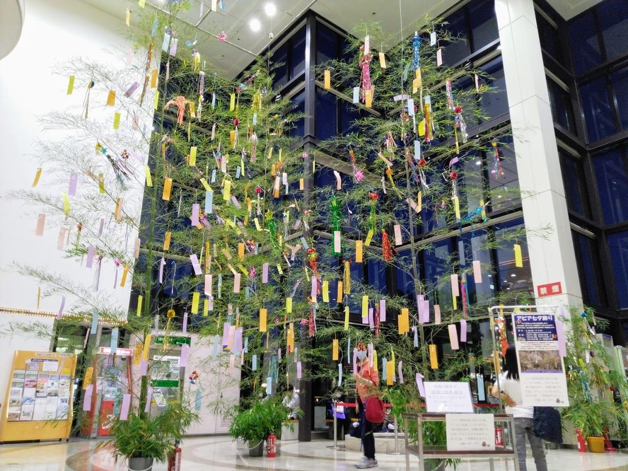 アピアの七夕飾りは伊和志津神社に奉納されます