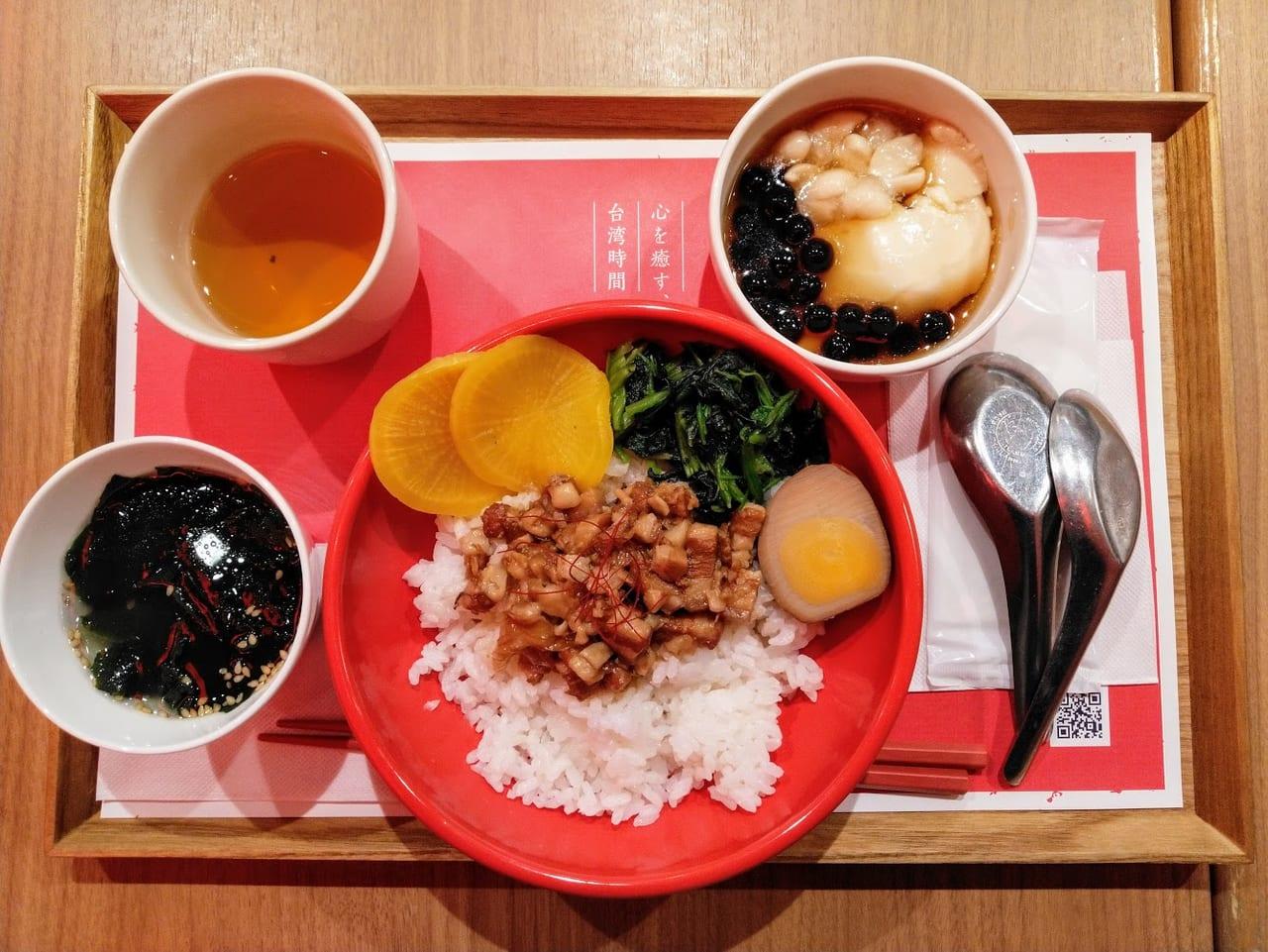 台湾甜商店の魯肉飯セット