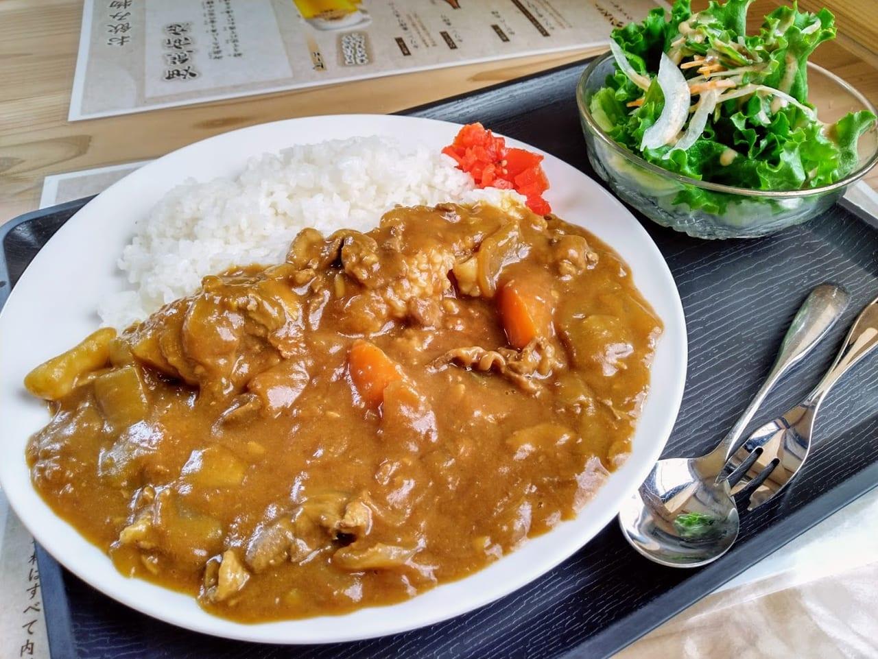 畑熊商店の猪肉カレーライス